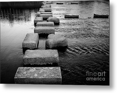 Crossing The Kamo River Metal Print by Dean Harte
