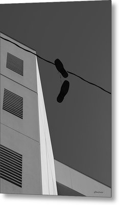 Metal Print featuring the photograph Crossing The Line - Urban Life by Steven Milner