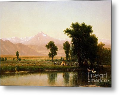 Crossing The River Platte Metal Print by Pg Reproductions