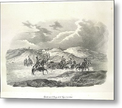 Crossing The River Vop Metal Print by British Library