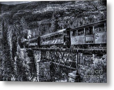 Crossing The Tressel Metal Print