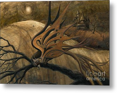 Crossroads Metal Print by Denise M Cassano