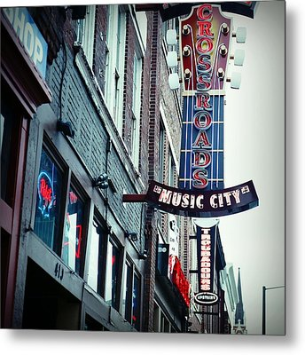 Crossroads Metal Print by Linda Unger