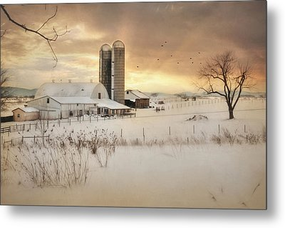 Crossroads Sunset Metal Print by Lori Deiter