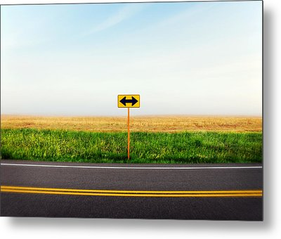 Crossroads Metal Print by Todd Klassy