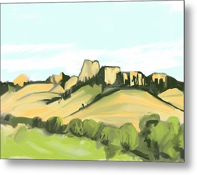 Crow Butte Metal Print