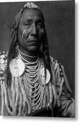 Crow Indian Man Circa 1908 Metal Print