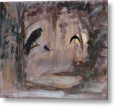 Crow Moon Metal Print by Ethel Vrana
