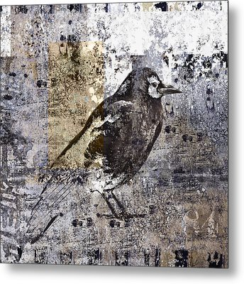 Crow Number 84 Metal Print