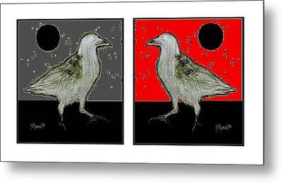 Crow5 Metal Print by Herb Russel