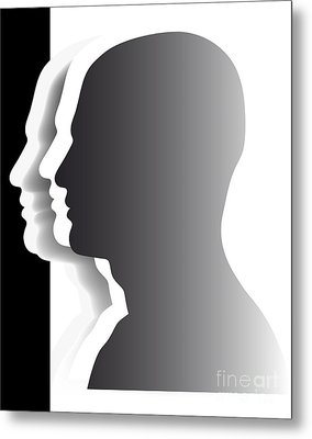 Crowd - Heads - Teamwork Metal Print by Michal Boubin