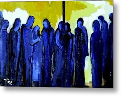 Crowd Nr.11 Metal Print by Mirko Gallery