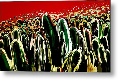 Crowds Metal Print by Vandana Rajesh