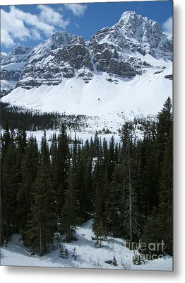 Crowfoot Mountain - Canada Metal Print by Phil Banks