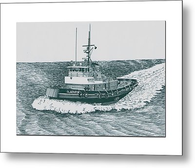Crowley Tugboat Ocean Going Gladiator Metal Print