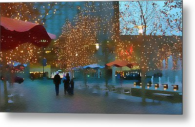 Crown Center Christmas Metal Print by Ellen Tully