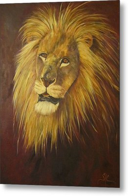 Crown Of Courage,lion Metal Print
