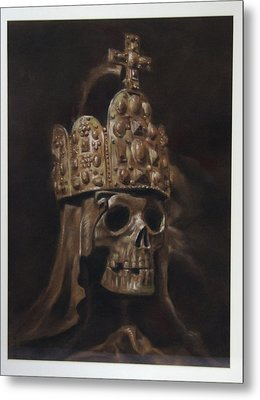 Crowned Death Metal Print by Paez  Antonio