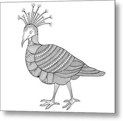 Crowned Pigeon Metal Print by Neeti Goswami