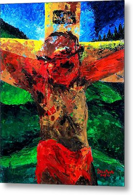 Crucifixion   It Is Finished Metal Print