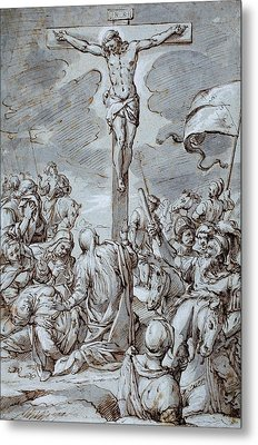 Crucifixion Metal Print by Johann or Hans von Aachen