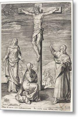 Crucifixion Of Christ, Anonymous, Frans Van Den Wijngaerde Metal Print by Quint Lox