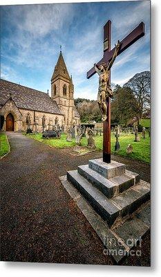 Crucifixion Of Jesus Metal Print by Adrian Evans