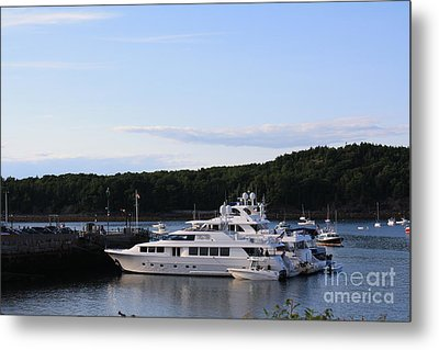 Cruiseships At Bar Harbor Metal Print by Dora Sofia Caputo Photographic Art and Design