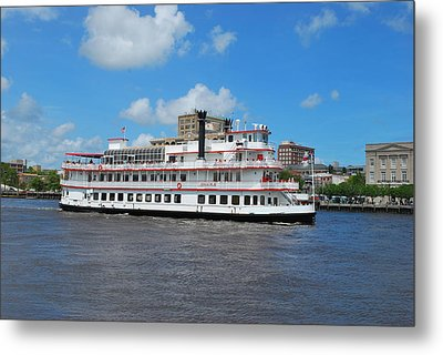 Metal Print featuring the photograph Steamboat  by Bob Sample