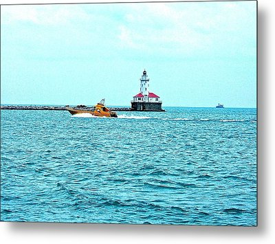 Cruising Chicago Lakefront Metal Print