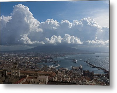 Cruising Into The Port Of Naples Italy Metal Print
