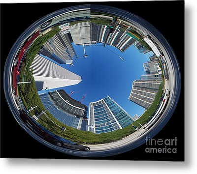 Cruising North On Lsd In Chicago Polar View Metal Print by Thomas Woolworth