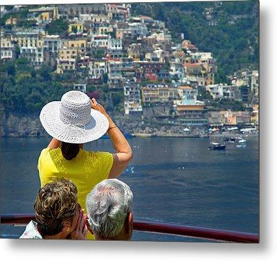 Cruising The Amalfi Coast Metal Print by Keith Armstrong