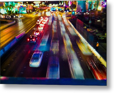 Cruising The Strip Metal Print