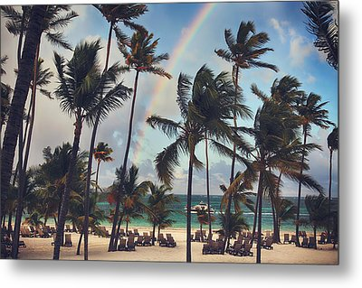 Cruising Under The Rainbow Metal Print by Laurie Search