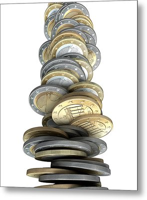 Crumbling Coins Metal Print by Allan Swart