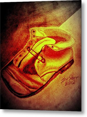 Crushed Baby Shoe Metal Print by Irving Starr
