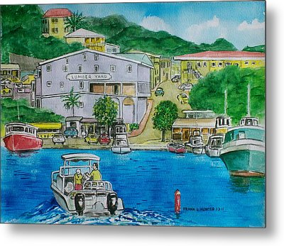 Cruz Bay St. Johns Virgin Islands Metal Print