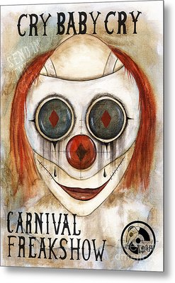 Cry Baby Cry Metal Print by Maria Forrester