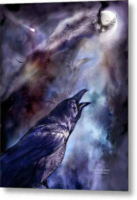 Cry Of The Raven Metal Print by Carol Cavalaris