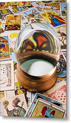 Crystal Ball And Tarot Cards Metal Print
