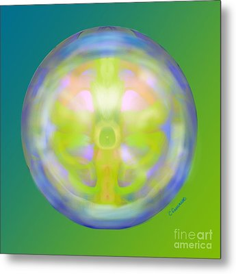 Crystal Ball Metal Print by Christine Fournier