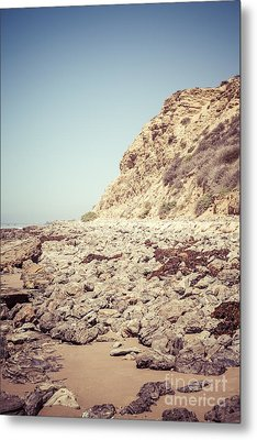 Crystal Cove State Park Cliff Picture Metal Print by Paul Velgos