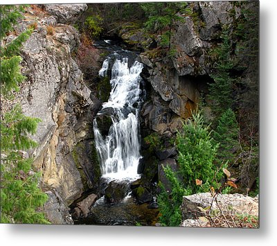 Crystal Falls Metal Print by Greg Patzer