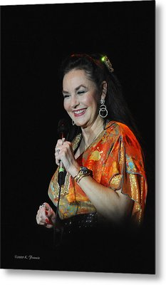 Crystal Gayle Metal Print by Kenny Francis
