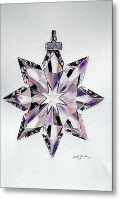 Crystal Ornament Metal Print