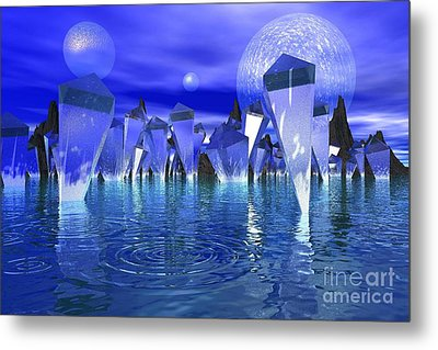 Metal Print featuring the photograph Crystal River by Mark Blauhoefer