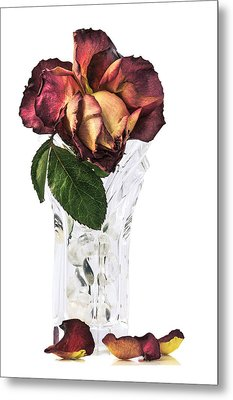 Crystal Rose Metal Print