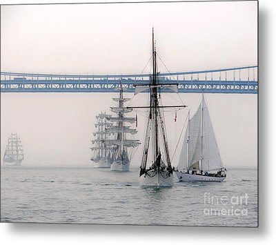 Crystal Ships On The Water Nyc Metal Print by Ed Weidman