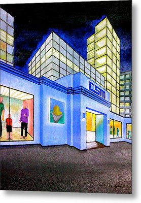 Metal Print featuring the painting Csm Mall by Cyril Maza